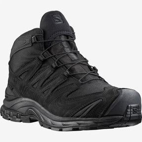 Salomon L40921800 XA Forces MID GTX EN Unisex 5 inch Boots, Lightweight, Uniform or Casual, Waterproof, Oil and Slip Resistant, available in Black and Ranger Green