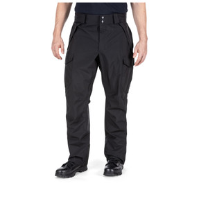 5.11 Tactical 48350 Duty Rain Pant, 100% Polyester, Uniform, Waterproof, Cargo, Relaxed Fit, Black