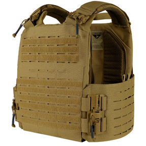 Condor Outdoor 201216 Vanquish RS Plate Carrier, Adjustable shoulder straps and cummerbund, available in Black, Coyote Brown, and Olive Drab Green