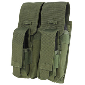 Condor Outdoor MA71 Double AK Kangaroo Pouch, Two 6 inch MOD straps is included, available in Black, Coyote Brown, and Olive Drab Green