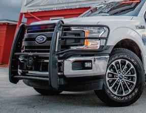 GO RHINO Ford F-150 2018-2020 Push Bumper, fits PPV SSV & Civilian, 5000 Series, Optional Brush Guard Wrap, Aluminum or Steel, choose Texture or Gloss