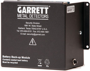 Garrett MZ-6100 14 amp-hour Lithium Battery, 1171400, for Mobile Walk-Through Metal Detector, 10 hour operation time, use when battery is primary power source
