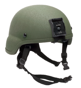 Avon Protection Combat II, Bullet Proof Helmet for Police and Military, Full Cut, NIJ Certified Level IIIA, Utilizes D30® Trust™ Pad System, Optional Rails, NVG Shroud, Bungee Cords and Exterior Velcro Set