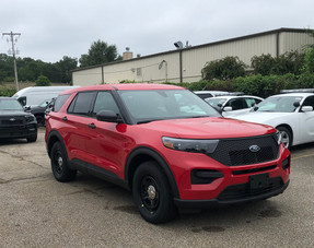New 2020 Red Ford (Explorer) Police Interceptor PI Utility V6 Gas Engine AWD For Sale, Ready to be Built as a Slick-Top Admin Pkg, Turnkey FPIU + Delivery