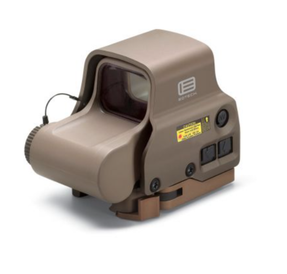 EOTech EXPS3-2TAN NIGHT VISION Compatible Holographic Weapon Sight, Single CR123 battery; reticle pattern with 68 MOA ring & 2 MOA dots - side buttons-NV-single QD lever TAN