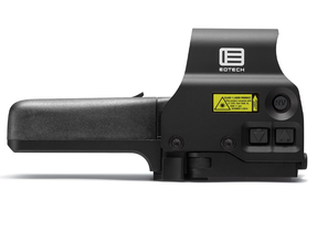 EOTech 518-2 Holographic Weapon Sight, AA battery; QD mount, units with buttons located on left side of unit; reticle pattern with 68 MOA ring & 2 MOA dots