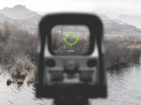 EOTech EXPS2-0GRN GREEN RETICLE Holographic Weapon Sight, Single CR123 battery; reticle pattern with 68 MOA ring & 1 MOA dot - side buttons- single QD lever