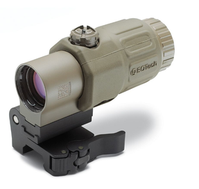 EOTech G33.STS Tan Holographic Weapon Sight MAGNIFIER, 3 power magnifier with quick disconnect, with side to side (STS) mount