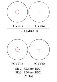 EOTech VDU1-6FFSR1 Grey VUDU Optics 1-6x24 First Focal Plane FFP Rifle Scope - SR1 Reticle (MRAD)