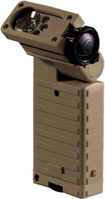 Streamlight 14000 Sidewinder Military Model - White Red Blue IR LEDs.  Includes 2 AA alkaline batteries - Clam - Coyote Brown