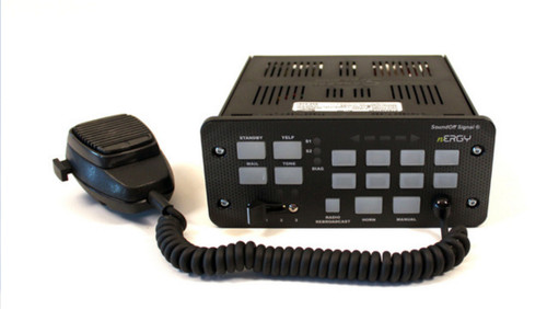 SoundOff nERGY 400 Console Siren and Light Controller with Buttons and Slide-Switch ETSA48-CSP