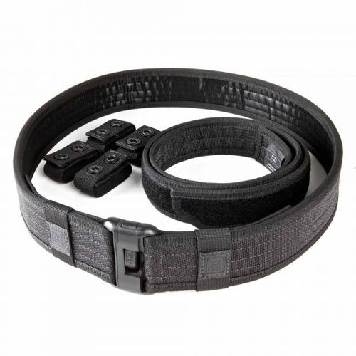 5.11 Tactical Sierra Bravo Duty Belt Kit, Water and Weather Resistant, Dual Belt Configuration, available in Black 59505