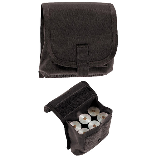 BLACKHAWK S T R I K E  40MM POUCH, HOLDS 6, Mounts to any S T R I K E ® or  PALS/MOLLE platform using Speed Clips, available in Black and Coyote Tan,