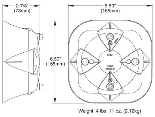 Whelen SA315P Siren Speaker on