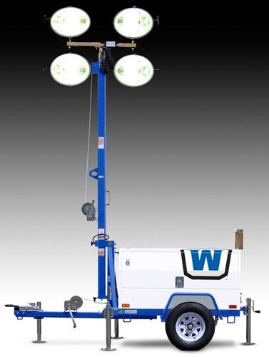 Wanco Portable Light Tower, sel Engine Powered on