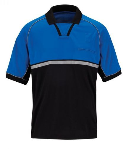 Propper® Bike Patrol Tactical Polo, Short Sleeve, 100% polyester pique, reflective trim on chest and sleeves, commonly chosen by Police and Security, mic/sunglasses loop, F5331