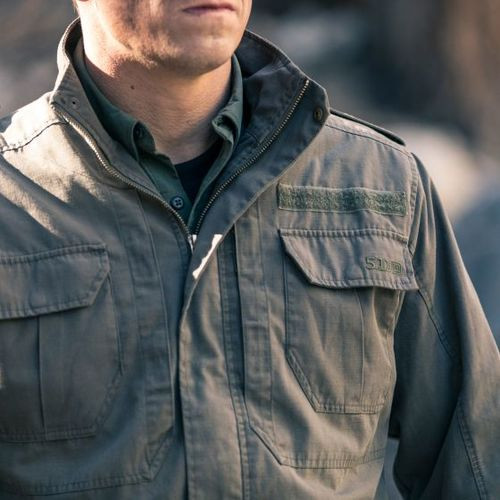 5 11 Tactical MEN'S TACLITE® M-65 JACKET, poly/cotton ripstop fabric, Slim  lining for easy layering, Functional epaulettes, 78007