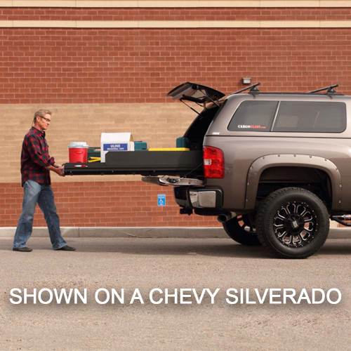 Cargo-Glide CG1500XL Chevy Tahoe Steel Truck-Bed Slide and Extender, 1500  lb Capacity, 100% Extension, 4