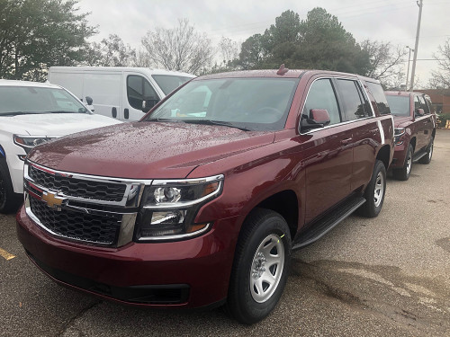 New 2020 Red Tahoe SSV V8 4x4, ready to be built for Fire-EMS with Red-White LEDs as an Admin Turnkey Package with an Exterior Light Bar, + Delivery
