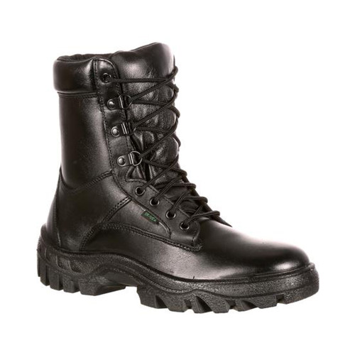 Rocky FQ0005010 Men's 8 Inch TMC Postal Approved Uniform Public Service Boots, Oil and Slip Resistant, available in Regular or Wide Width, Black