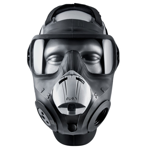Avon Protection PC50 Twinport Assembly (APR) Air Purifying Respirator, Scratch Resistant, Low inhalation resistance, with optional accessories, Filter not included.