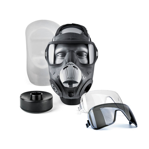 Avon Protection PC50 Enforcer Kit  (APR) Air Purifying Respirator, Scratch Resistant, Low Inhalation Resistance, Kit includes Mask, CTF12 Filter and Two Outserts.