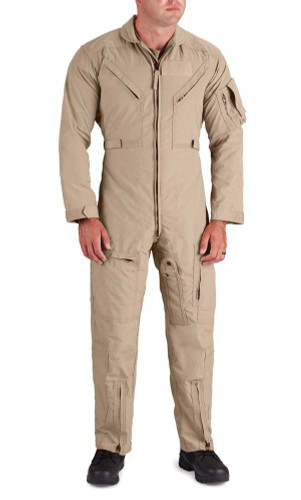 Propper® F5130 CWU 27/P Aramid Men's Uniform Flight Suit with 2 Chest Pockets, Adjustable Cuffs, and Adjustable waist belt, available in Tan and Green