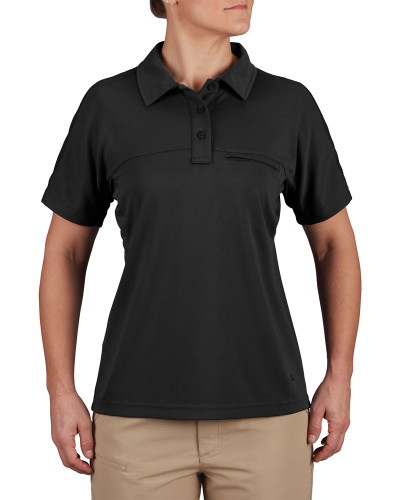 Propper F5324 HLX® Women's Short Sleeve Polo, Uniform/Casual, 100% Polyester, Low-profile design, Athletic fit, available in Black, Charcoal, LAPD Navy, Steel Blue, and White