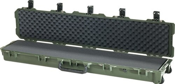 Pelican iM3410 Storm Rifle and Shotgun Long Case With Five Press & Pull Latches, Hard Case with Optional Foam Insert, Available in Black or Green, 58 x 13 x 7, 18 lbs (w-out foam insert)