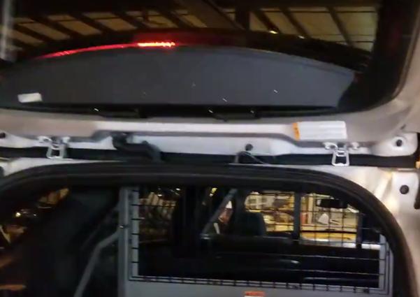Sound-off FPIU Ford Law Enforcement Interceptor PI Utility SUV (Explorer) 2013-2019 & 2020 n-Force Rear Windshield Facing Interior LED Light bar ENFWBRF, Dual (2) colors per light-head, includes shroud to reduce flash-back