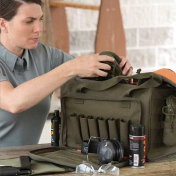 Propper® Tactical Range Bag includes removable fold out mat, two adjustable internal dividers, and has 6 magazine slots, available in Black or Olive Green, F5638