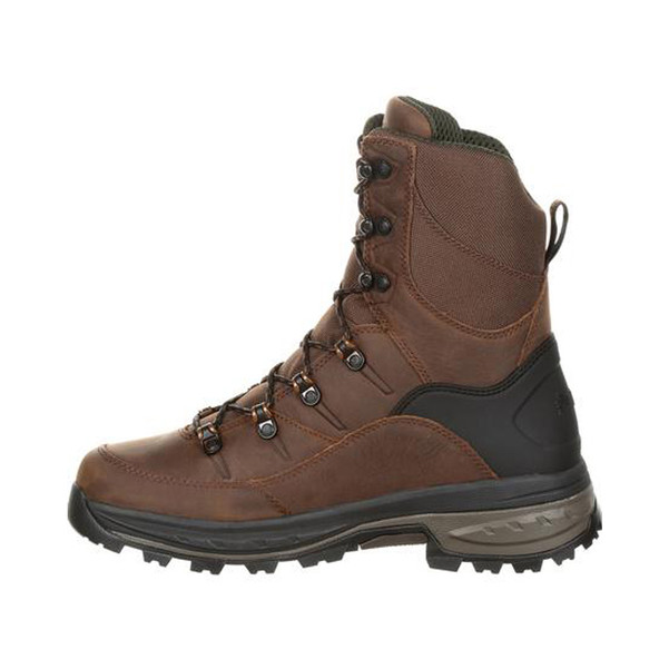 Rocky Grizzly RKS0365 Men's 9 Inch Waterproof 200G Insulated Outdoor Casual Boots, available in Regular or Wide Width, Brown