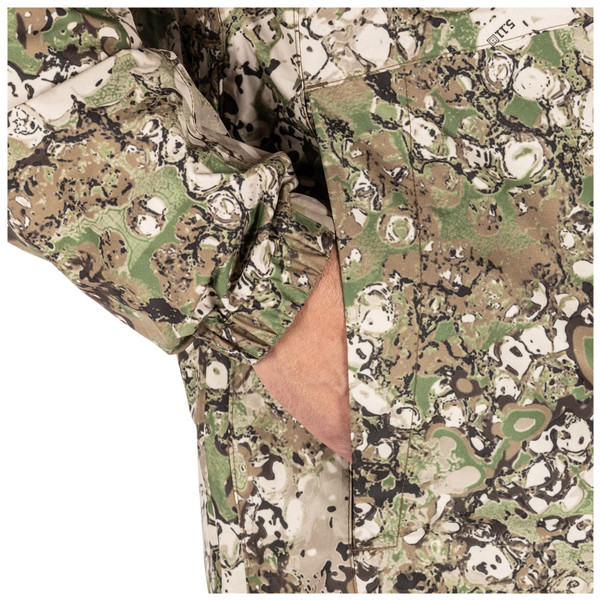 5.11 Tactical 48353G7 GEO7™ Duty Rain Shell Camo Jacket, 100% Polyester, Waterproof, Regular Fit, Elastic sleeve cuffs, available in Night and Terrain