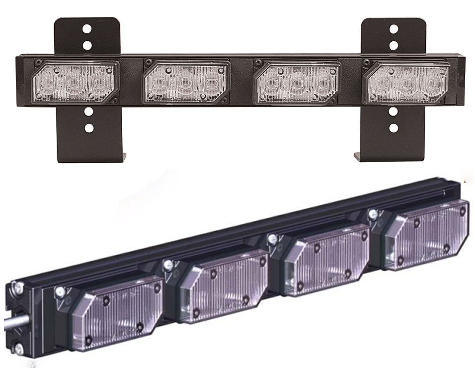 Mini Led Light Bar >> Soundoff Signal Ultralite 4 Module Exterior Warning Mini Led Light
