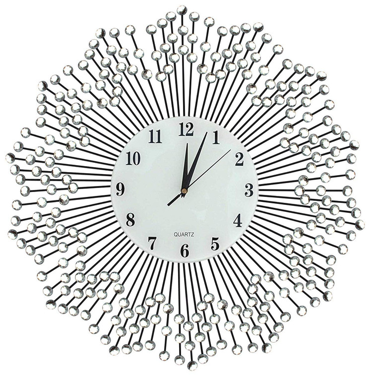 """23"""" Celebration Decorative Wall Clock with White Glass Number Dial 8.5"""""""