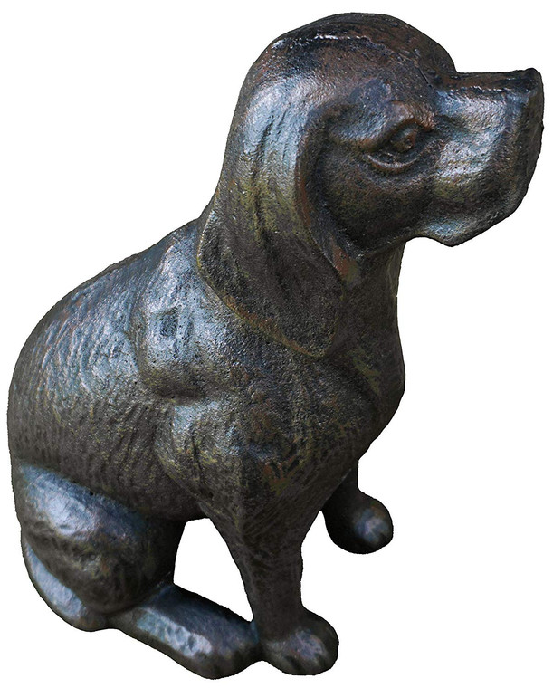 Cast Iron Dog Statue Garden Décor (Black)