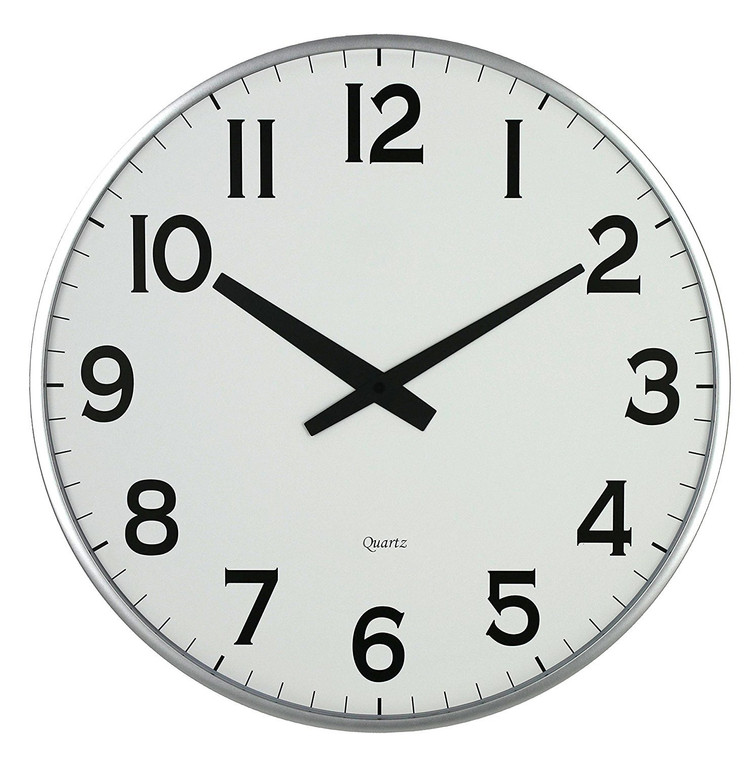 "18"" Slim Large Wall Clock, Round Modern Sleek Design only 0.75"" Thick"