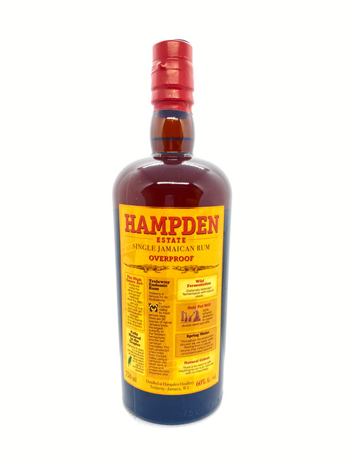 Hampden Estate, Overproof Pure Single Jamaican Rum 120 Proof