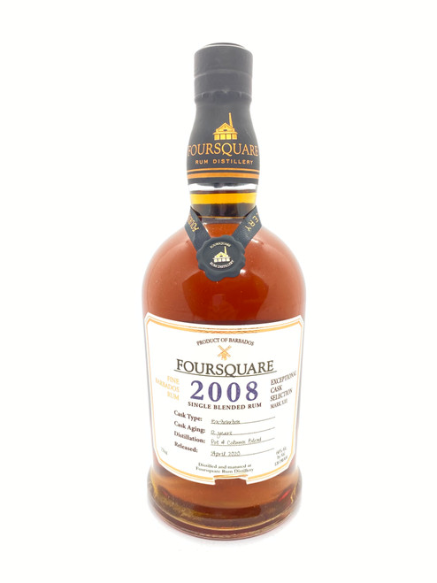 Foursquare Distillery, 12 Years Old 2008 Exceptional Cask Selection Mark XIII Single Blended Fine Barbados Rum