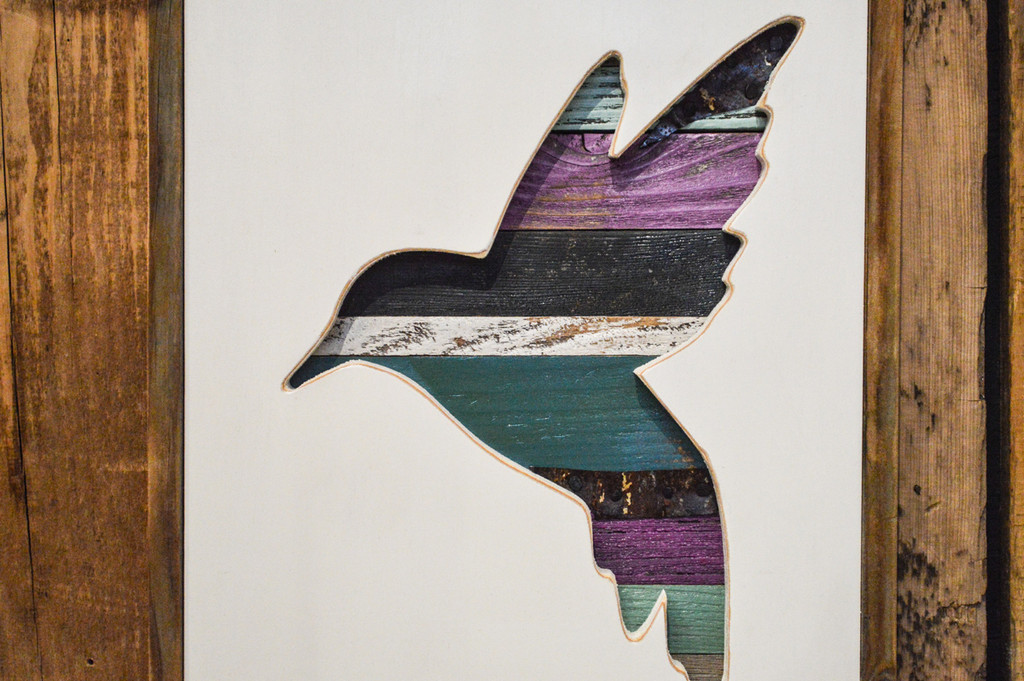 Hummingbird Wood Cutout