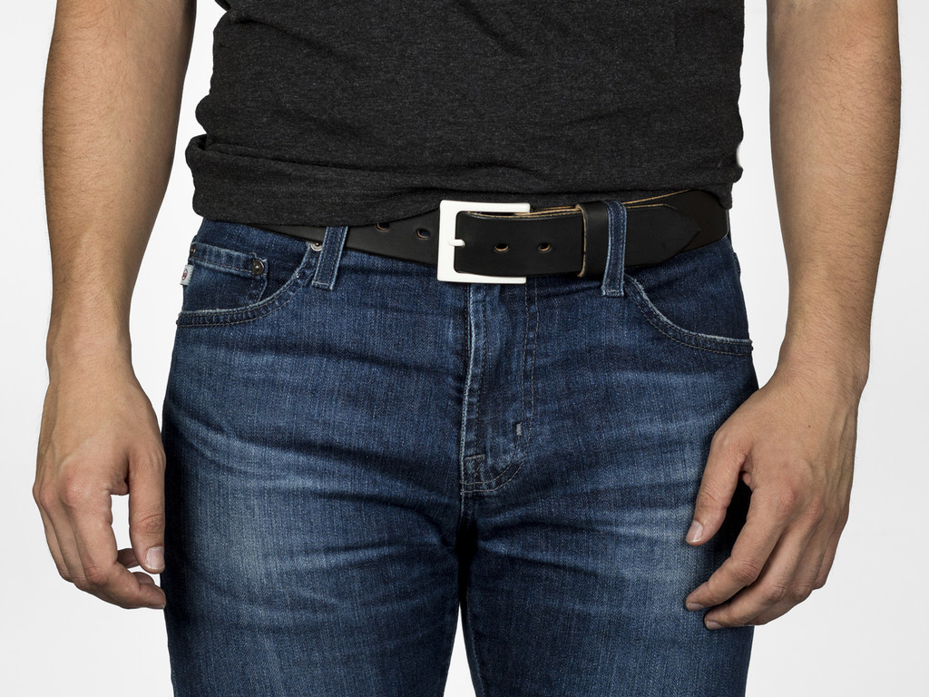 Fruit Punch Leather Belt - Pillow White