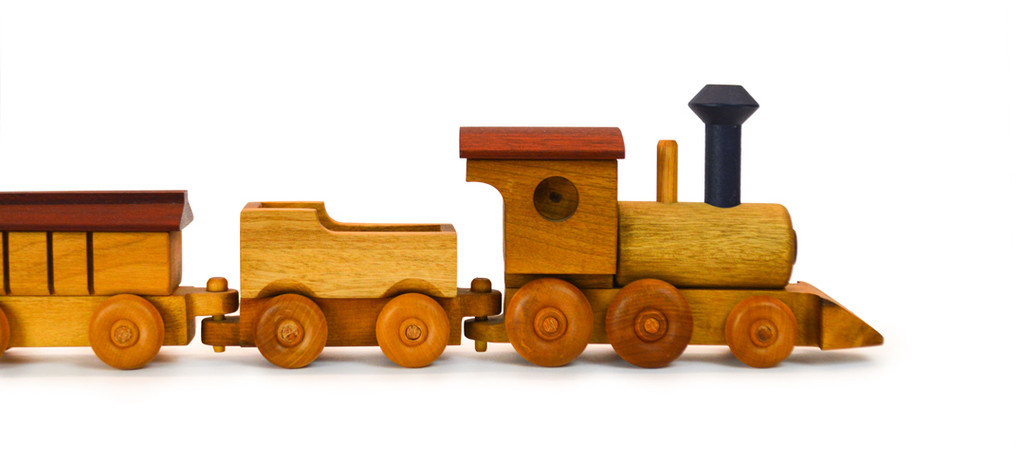 Natural Myrtlewood Medium Train Set