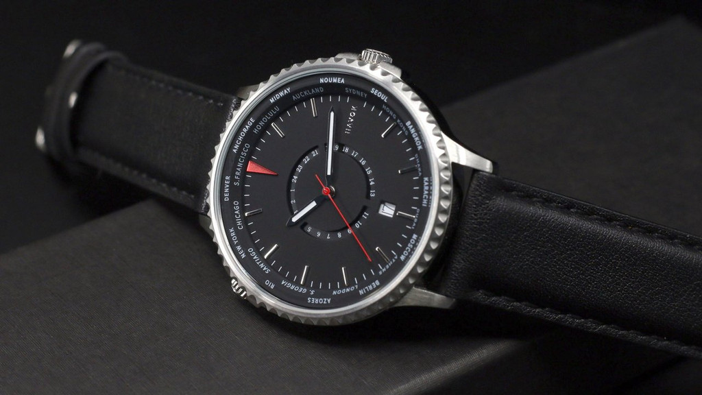 Havok  Onyx Black Wold Traveler Watch 42mm