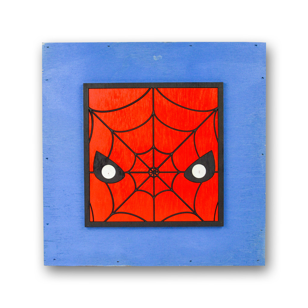 Space Monkey Spiderman Hero Square