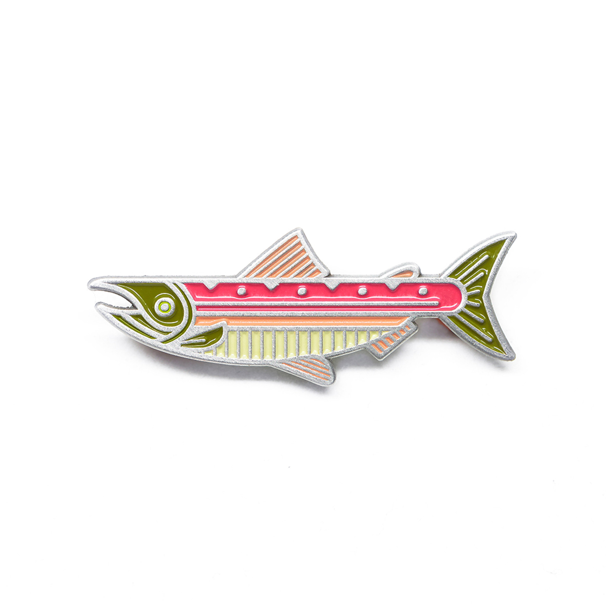 Lost Lust Salmon Enamel Pin