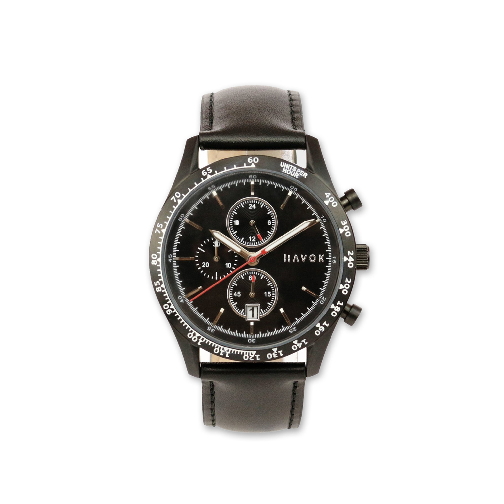Havok Racer Chronograph Diamond Black Watch 42mm