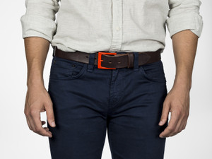 Fruit Punch Leather Belt - Lava Red