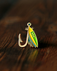 Lost Lust Fly Lure Enamel Pin