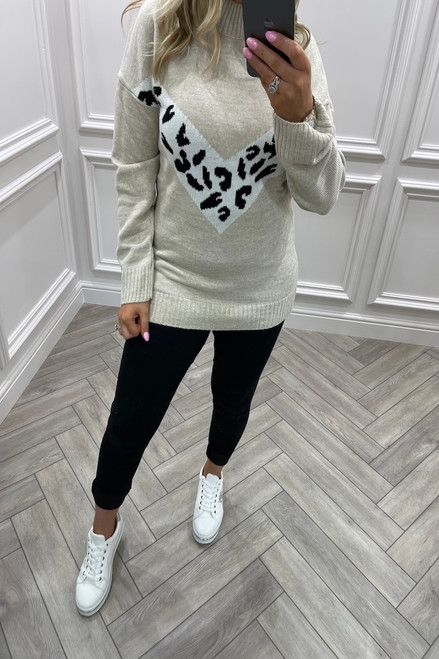 Mariola Beige Knitted Jumper