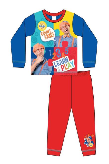 Blippi Red & Blue Children's Pj'S